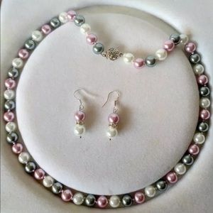 Necklace earring south pearls jewelry set